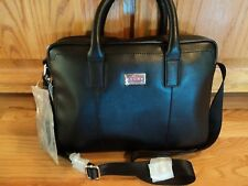 "Men's A.T. CROSS briefcase ""Cordoba"" Black NWT Maker of fine pens"