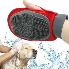 Soft Mitt Cat Dog Glove Brush For Long&Short Hair Remove and Bath Sponge Massage