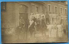 CPA PHOTO: Soldats du 3° Régiment de Chasseurs à Cheval / 1908