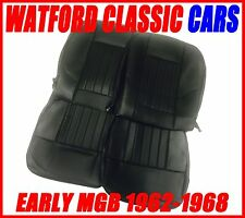 MGB Roadster and GT Seat Covers 1962 -1968 Black/Black, Does a PAIR of Seats.