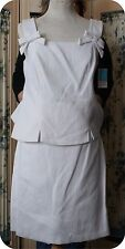 DESIGNER d b collection 2 pc WHITE QUILTED BROCADE SKIRT SUIT SUMMER SIZE 8 NWT
