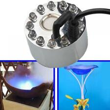 12 LED Lights 24V AC Mist Fog Maker Pond Fountain Humidifier Decor NO ADAPTER