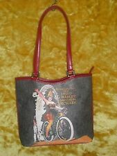 NEW,NEVER USED,Red portrait Harley Davidson purse,Vintage/Bling graphics,PERFECT