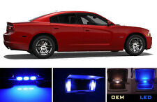 Ultra Blue Vanity / Sun visor LED light Bulbs for Dodge Charger (4 Pcs)