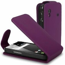 New Purple Leather case Mobile Phone saver for Samsung S5830i Galaxy Ace