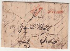Österreich Vorphila Brief Wien nach Triest Italien 1844 Stempel ! (A1607