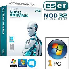 ESET NOD32 Antivirus 2017 -  1PC / 2 Anni. Licenza Originale / DURATA VERA