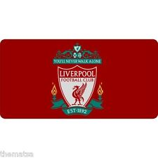 LIVERPOOL FOOTBALL CLUB RED  METAL LICENSE PLATE USA MADE