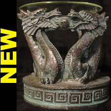 NEW - Green Dragon Oil Incense Burner, Warmer, Diffuser with Glass Bowl