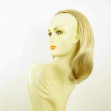 DT Half wig HairPiece golden blond poly mesh very light blond 15.7 :21/24bt613