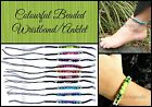 ~COLOURFUL BEADED ANKLET or WRISTBAND~Surfer~Tribal~10 Colours Available~Cotton