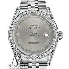 Rolex 31mm Datejust 18KGold Stainless Steel Slate Grey Roman Numeral Dial Watch
