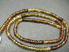 "PETRO TOURMALINE SHADED  MICRO  FACETED RONDELLE BEADS 3-3.5 MM ,13""STRANDS"
