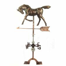 Rustic Antiqued Copper Horse Weathervane Rooftop Barn Shed Farm Farmhouse 32.3""