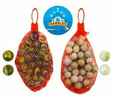 42 Glass Marbles - 2 Bags Of 20 Marbles & 2 Shooters - Traditional Game