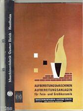 Maschinenfabrik Eirich Hardheim Prospektmappe Maschinen für Keramik 1963-1969