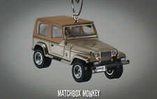 1993 Jeep Wrangler Sahara Soft Top Custom Ornament 1/64 XJ YJ Sand Beige Tan