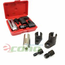 5pc Oxygen Sensor Socket O2 Thread Chaser Install Offset Wrench Vacuum M12 M18