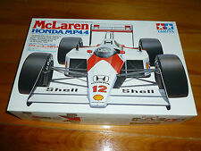 McLAREN HONDA MP4/4 1988 PROST SENNA PLASTIC MODEL KIT 1/20 TAMIYA 22 OPENED BOX
