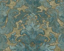 Burlesque De Bohême Papier peint intissé 96046-1 Baroque vert turquoise
