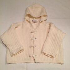 Zip zap beige cable knit cardigan à capuche veste bébé fille vêtements 0-3 mois