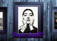 MARIA CALLAS FRAMED & MOUNTED SIGNED 10x8 REPRO PHOTO PRINT