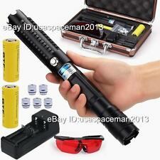 High Power 5000 Lumen Focusable Burning Blue Laser Pointer Lazer Pen 2x26650 S