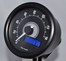 Daytona Velona Digital Speedometer speedo 140 MPH/KPH Black case motorcycle bike