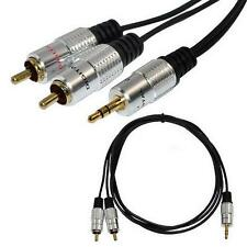 5ft Premium 3.5mm stereo male To 2RCA male Jack Audio OFC Cable MP3 New C