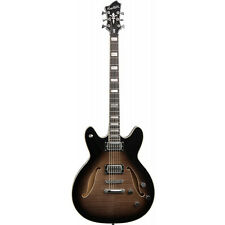 Hagstrom Viking Deluxe Semi-Hollow Baritone Electric Guitar Cosmic Black Burst