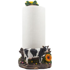 Holstein Cow Countertop Paper Towel Holder for Country Farm Kitchen Decor Gifts
