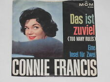 """CONNIE FRANCIS -Das ist zuviel (Too Many Rules)- 7"""" 45"""