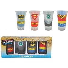 Justice League Shot Con Personaggio/Shooter Set Bicchieri & Ufficiale DC Comics