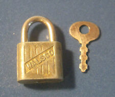 Vintage Miniature Padlock & Key Walsco Lock Co.
