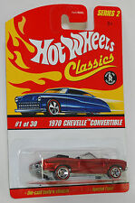Hot Wheels Classics 1970 Chevelle Convertible Red 1:64 S2