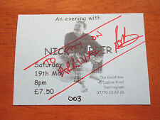 NICK HARPER - THE GLADSTONE NOTTINGHAM 19th MAY 2001 USED CONCERT TICKET
