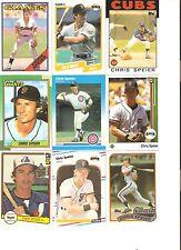 18 CARD CHRIS SPEIER BASEBALL CARD LOT               41