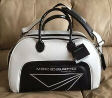 Mercedes AMG F1 Golf SA188 Staff Series Boston Bag White/ Carbon Fiber Look