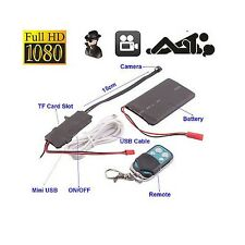 Mini HD1080P CCTV Remote Control 007 Devil PC HDCamera Spy Hidden video camera