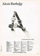 PUBLICITE ADVERTISING 034   1979   ALEXIS BARTHELAY     collection montres