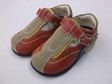 Mister Baby By Dr Scholl Velcro Shoe, Leather/Textile, red emilio EU 19-20
