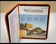 LEATHER MEETING FOLDER, (For WT & Christian Life & Ministry), Jehovah's Witness