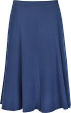 """New Ladies Womens Skirt 26"""" Length Plain Jut Below The Knees Elasticated Waist"""