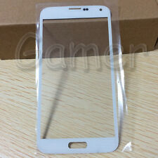 White Outer Glass Lens Front Screen Cover For Samsung Galaxy S5 G900 G900F G900A