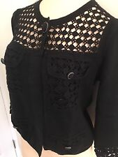 CHANEL AUTHENTIC LADIES Black  100% Cotton  Jacket SIZE 40