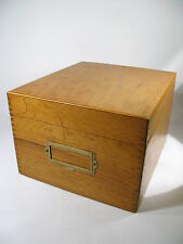 Vintage Wayne Novelty Oak storage/File Box Dated January 1971.