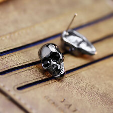 Best Match Unisex Men Punk Jewelry Skull Head Earrings Ear Studs Fashion Jewelry