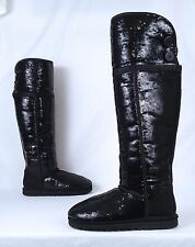 UGG Sequin Over The Knee Boot - Black- Size 8 US  (BX7)