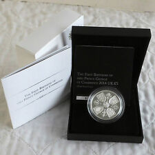 2014 1st BIRTHDAY OF PRINCE GEORGE £5 SILVER PROOF CROWN free worldwide postage
