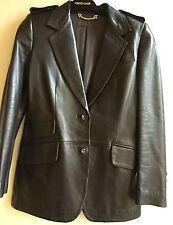 Tom Ford for  Gucci Vintage Designer  Brown Leather Jacket Epaulets  S 38